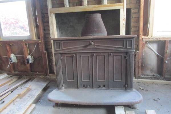 Sears Ben Franklin Cast Iron Wood Burning Stove Fireplace Insert