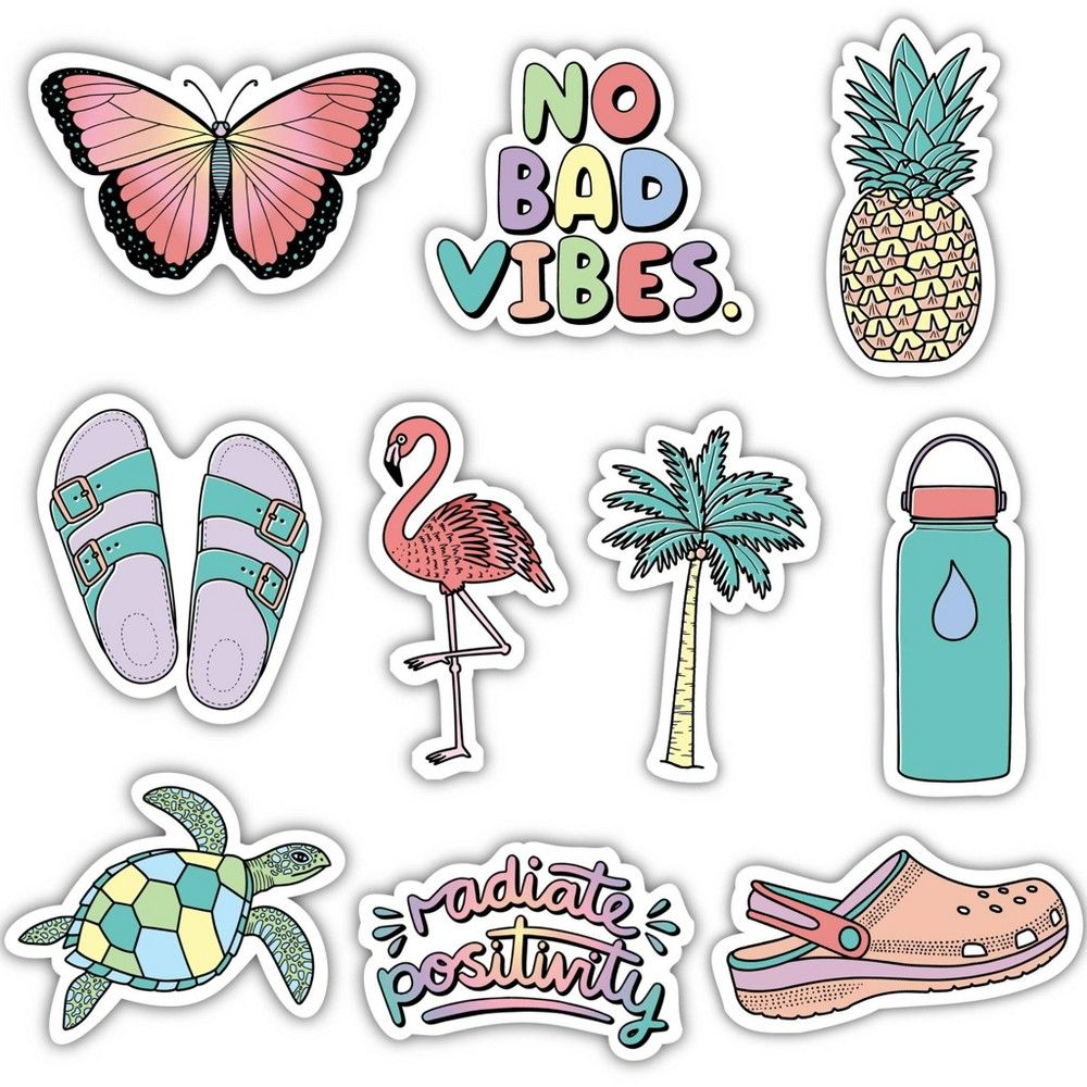 Big Moods Aesthetic Sticker Pack 10pc