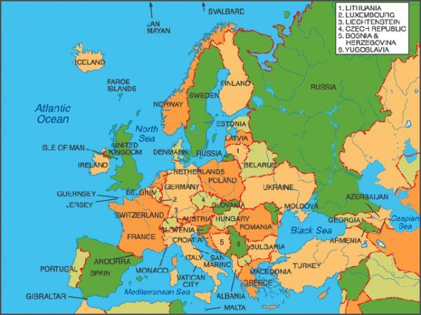 Images Of Maps Eastern European Countries And Capitals Their Large ...