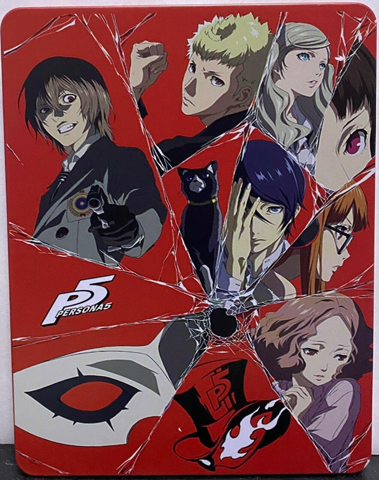 Persona 5 Custome Steelbook Case PS4 (NO GAME DISK