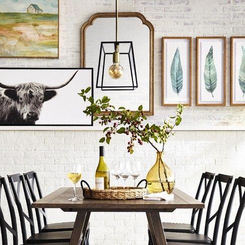 3 Light Pendant Modern Farmhouse Ceiling Light Black ...