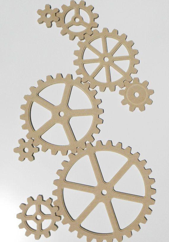 Large Wooden Gears Set Diy Gear Wall Art Steampunk By Sturmclad Pieces De Velo Velo