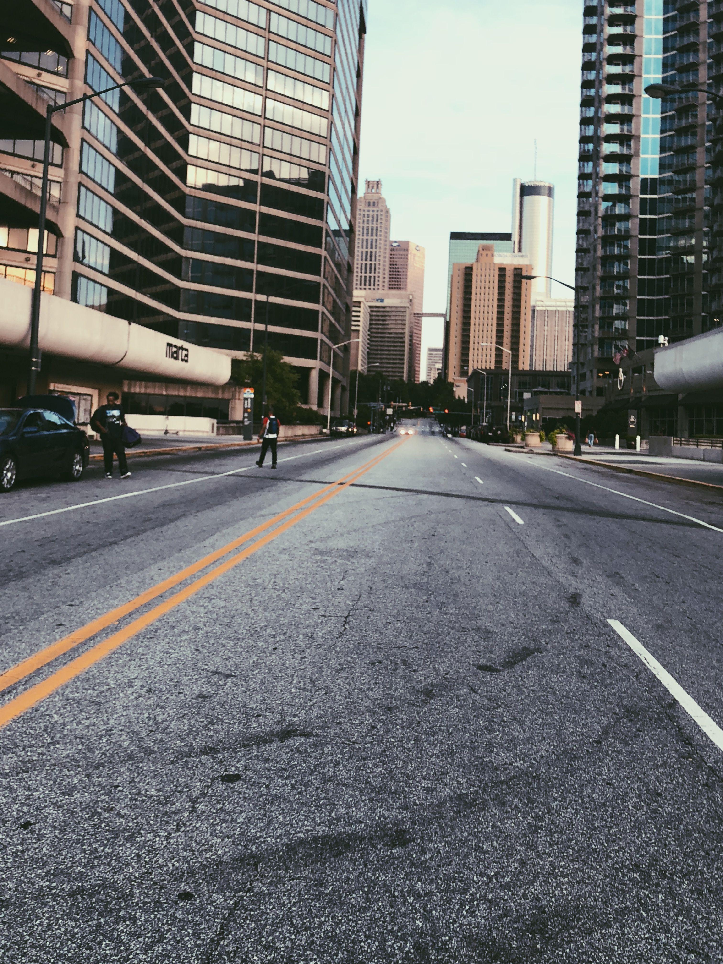 Background Photography Atlanta Georgia Wallpaper City Road Empty