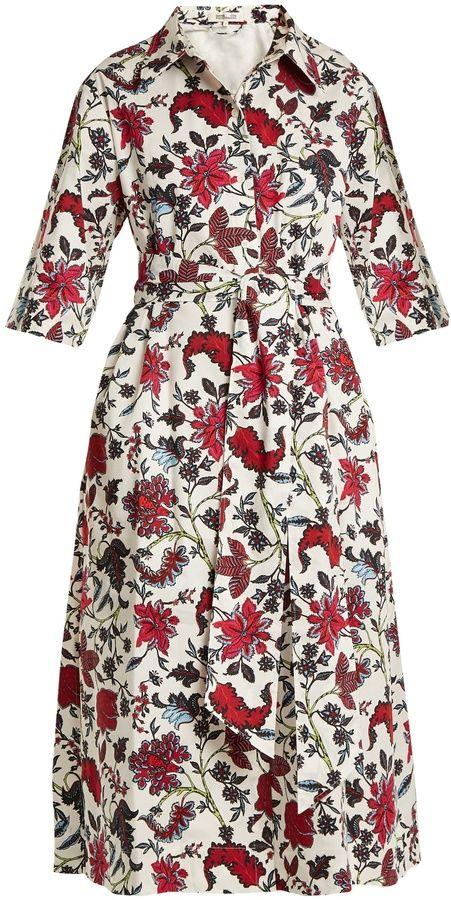 0cfb006552 Diane von Furstenberg Canton-print stretch-cotton dress