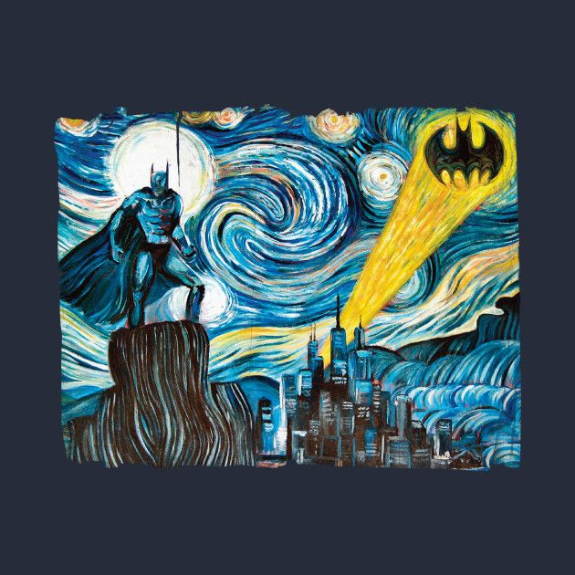 check out this awesome the dark starry knight design on teepublic
