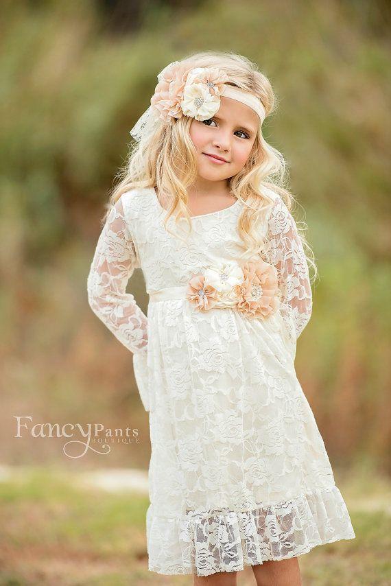 Spitzenkleid Mädchen Blumenmädchen Kleid von byFancyPants auf Etsy ...