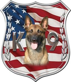 Service Dogs For Heros Decal