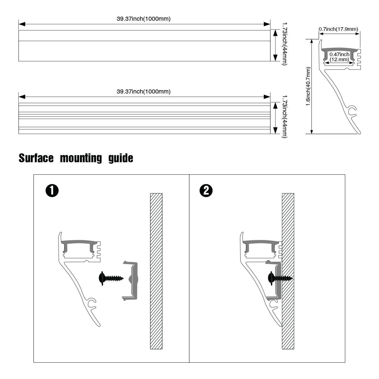 5 Pack Of 1m 3 3ft V Shape Aluminum Channel For Corner Mount Led Strip Installation Right Angle Aluminum Profile W Led Strip Lighting Strip Lighting Led Strip