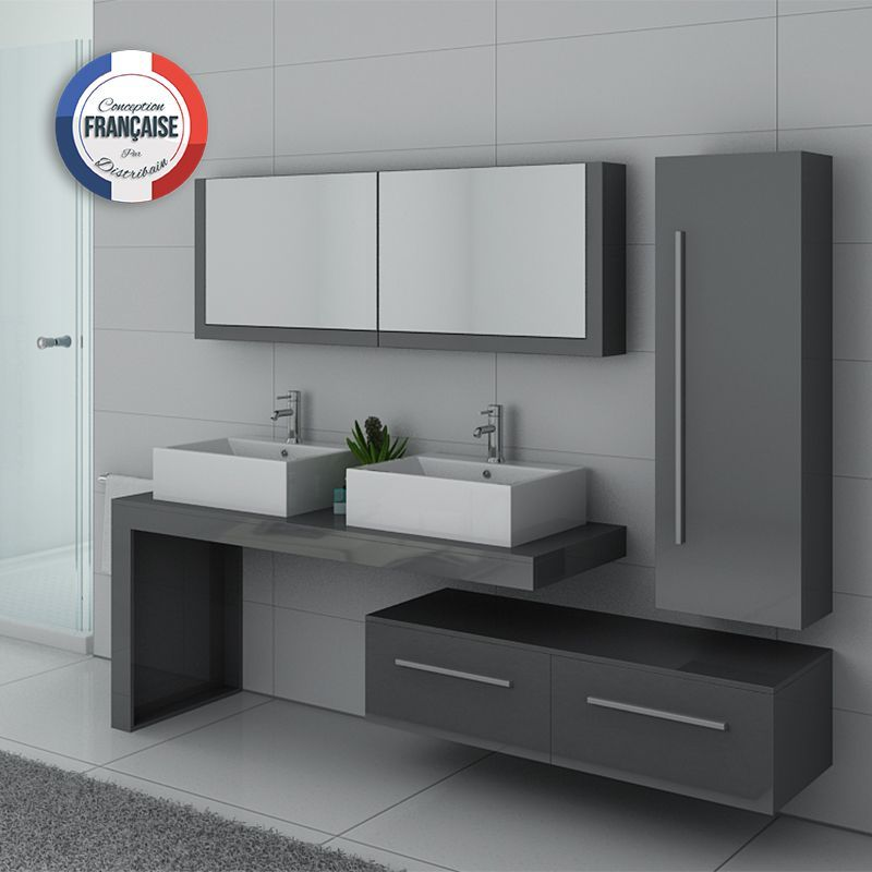 Meubles salle de bain DIS9350 gris taupe Taupe, Kid bathrooms and