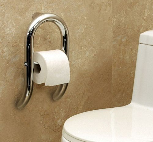 Combination grab bar and toilet paper holder is just one of the things you  can do. Combination grab bar and toilet paper holder is just one of the