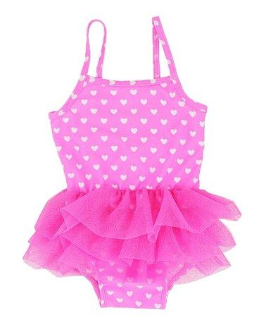 Another great find on #zulily! Hot Pink & White Heart Fairy Bodysuit - Kids #zulilyfinds