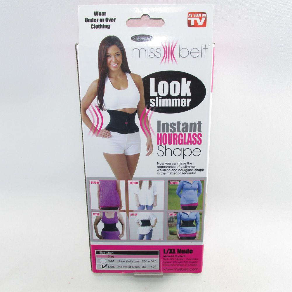 c9a1efeccda00 Miss Belt Instant Hourglass Shape Figure Waist Cincher L XL 33