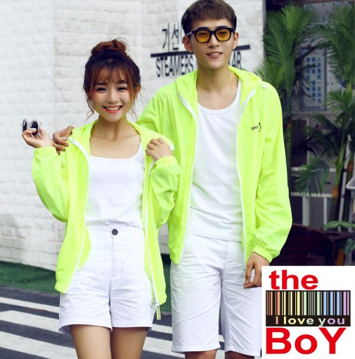 Cc01123 Summer Very Thin Couple Clothes Couples Breathable Windbreaker