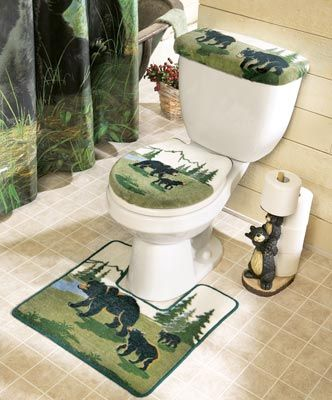 Northwoods Bathroom Bear Toilet Commode