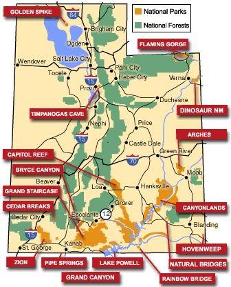 National Parks Of Utah Map.National Parks Utah National Parks Pinterest Utah Utah Parks