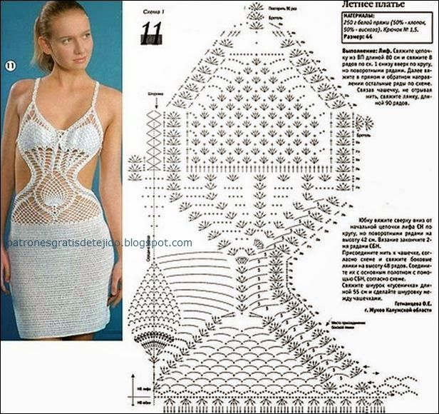 Patrón de solero de dama al crochet | vestidos | Pinterest | Crochet ...