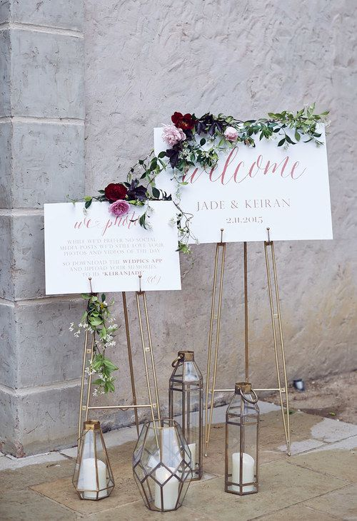 Matrimonio Bohemien University : Cartelli di benvenuto al matrimonio wedding palette