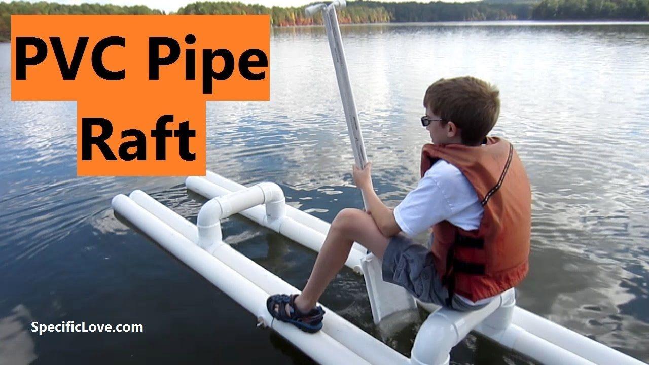 PVC PIPE Raft at the Lake - We finally got the PVC raft to the lake ...