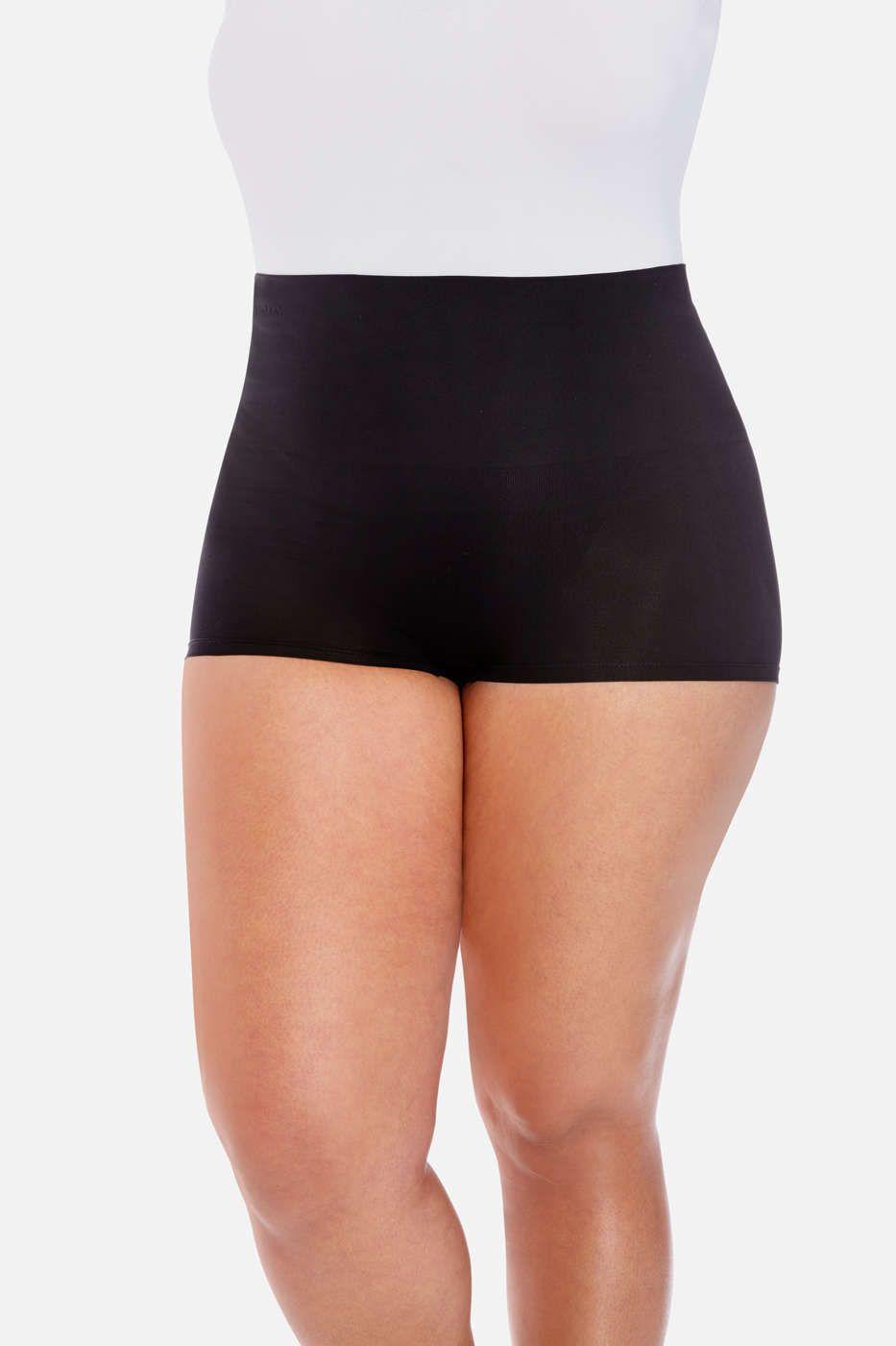 164df69497268 Plus Size High Waist Boy Shorts