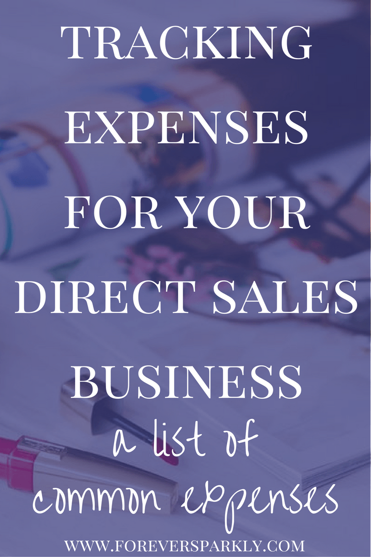 tracking expenses for your direct sales business tracking business