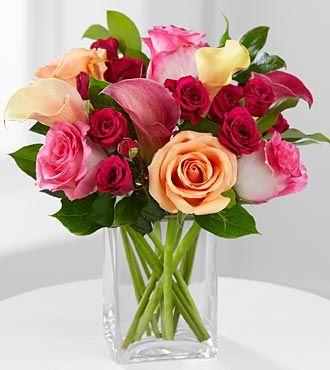 Colors Of Love Rose Calla Lily Bouquet Vase Included Calla Lily Flowers Calla Lily Ftd Flowers