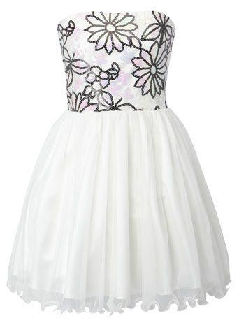 Flower Sequin Net Prom Dress - dresses - older girls (8-16 ...