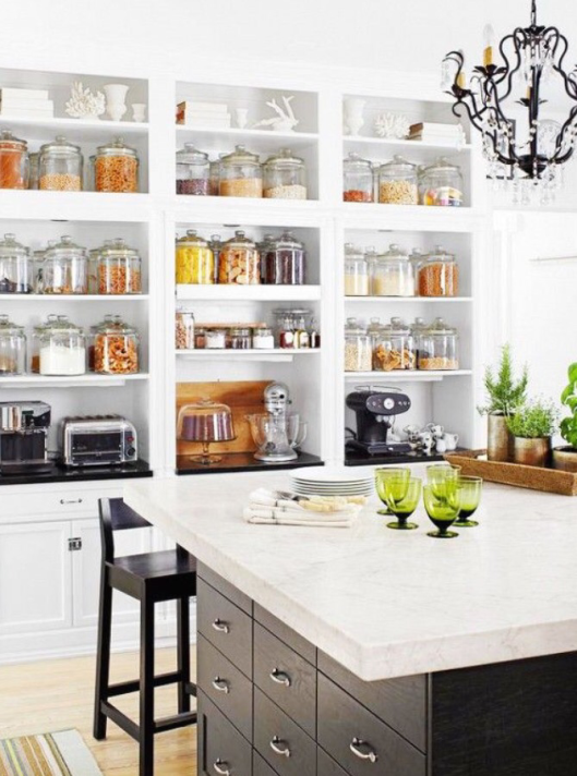 18 imágenes de cocinas sin armarios cerrados | Cocinas, Despensa y ...