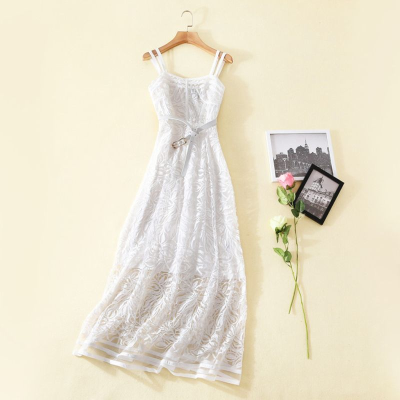 """White embroidered dress for women. Embroidered dress makes me hot. - Special 10%off Coupon Code """"pins""""  - For hot Women #Women Dress #Summer Dress #Ruway fashion #party Dress #Product"""