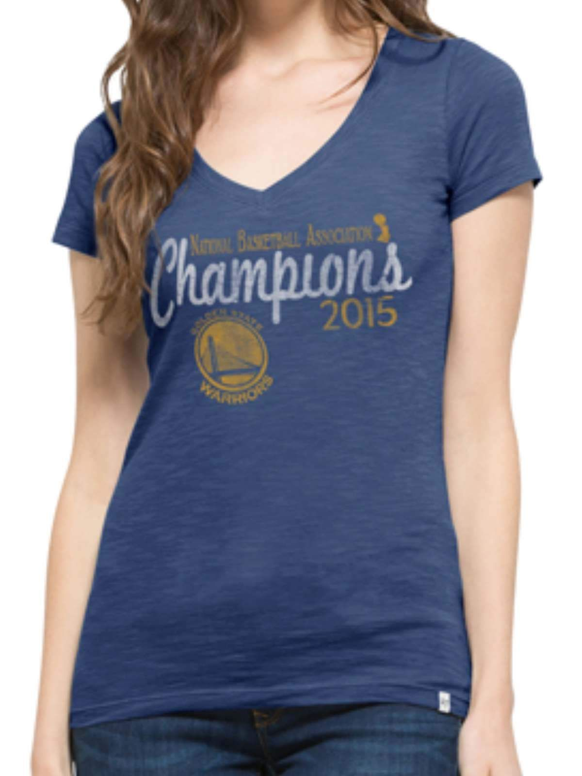 quality design 987a6 ecc70 Golden State Warriors 2015 NBA Finals Champions 47 Brand Women Scrum T-Shirt