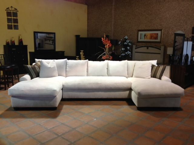 Chaise Sofa Bradly Double Chaise Feather Down Sectional