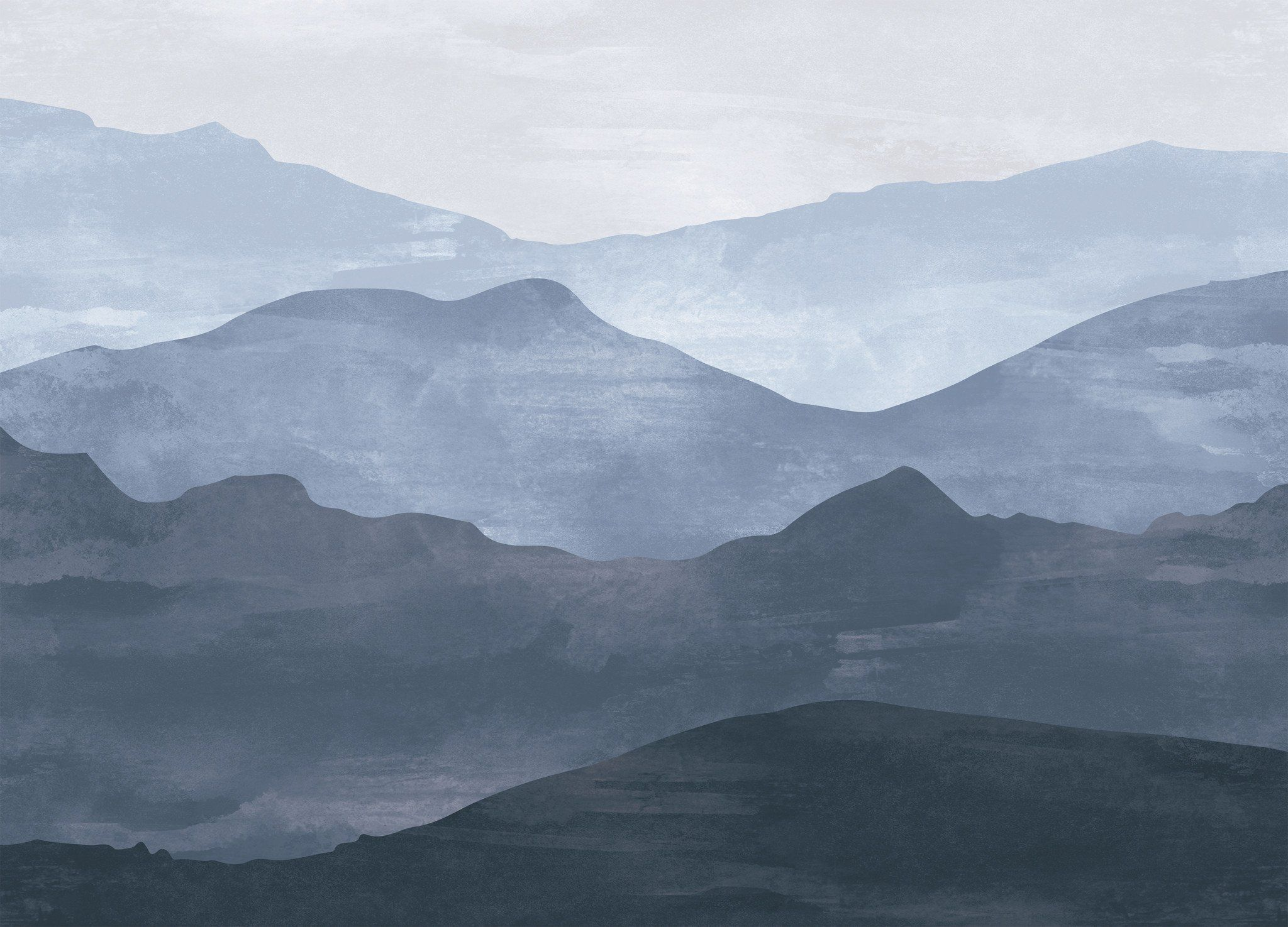 Watercolor Mountain Wallpaper