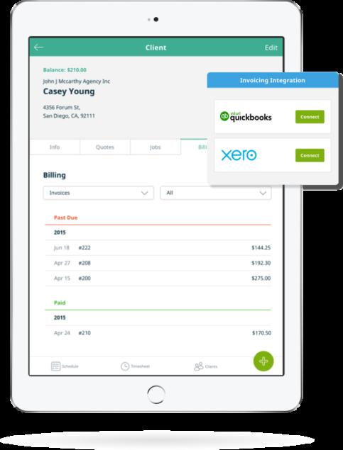 Landscape Scheduling Management Software Jobber Tree Service - Invoice software for landscaping