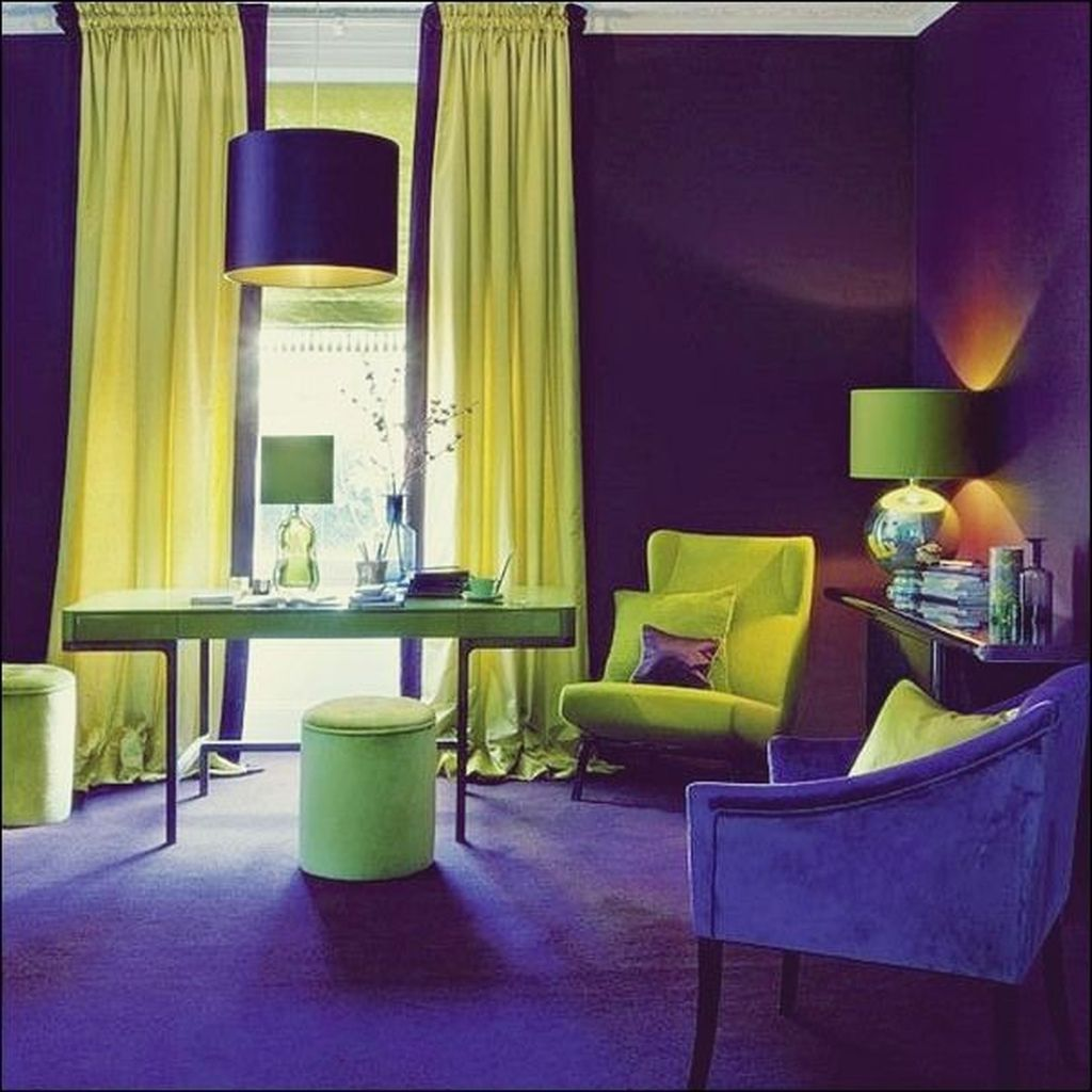 40+ Awesome Living Room Green And Purple Interior Color ...