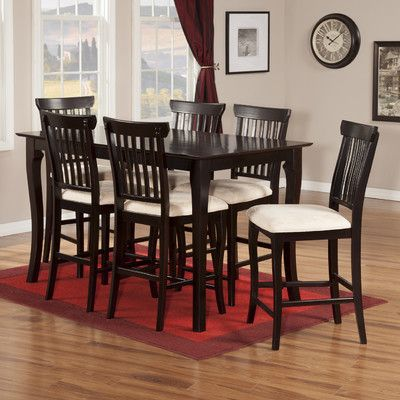 Darby home co newry 7 piece pub table set finish espresso darby home co newry 7 piece pub table set finish espresso watchthetrailerfo