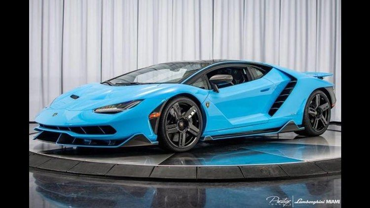 Amazing Looking Blue On This Centenario Currently On Sale For Just About 2 8 Million Lamborghini Lamborghini Centenario Super Cars