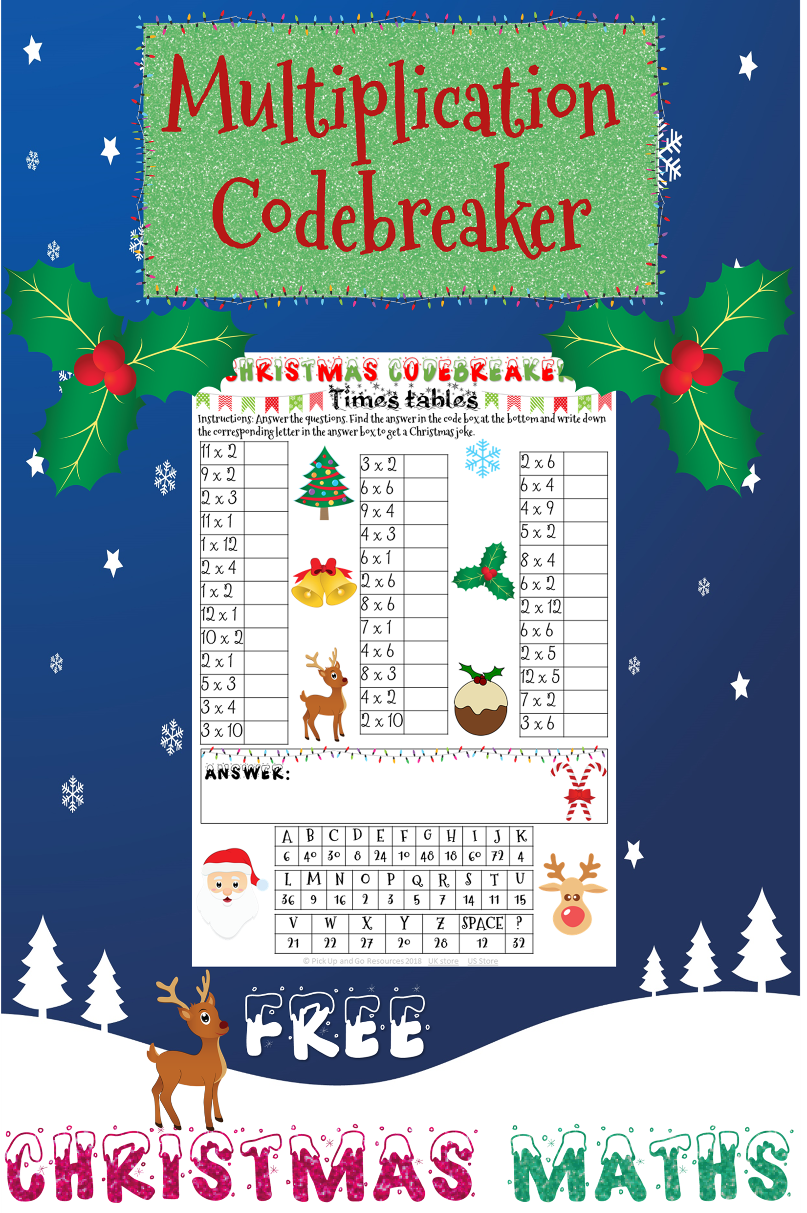 This Christmas Maths Code Breaker Gives Students Lots Of