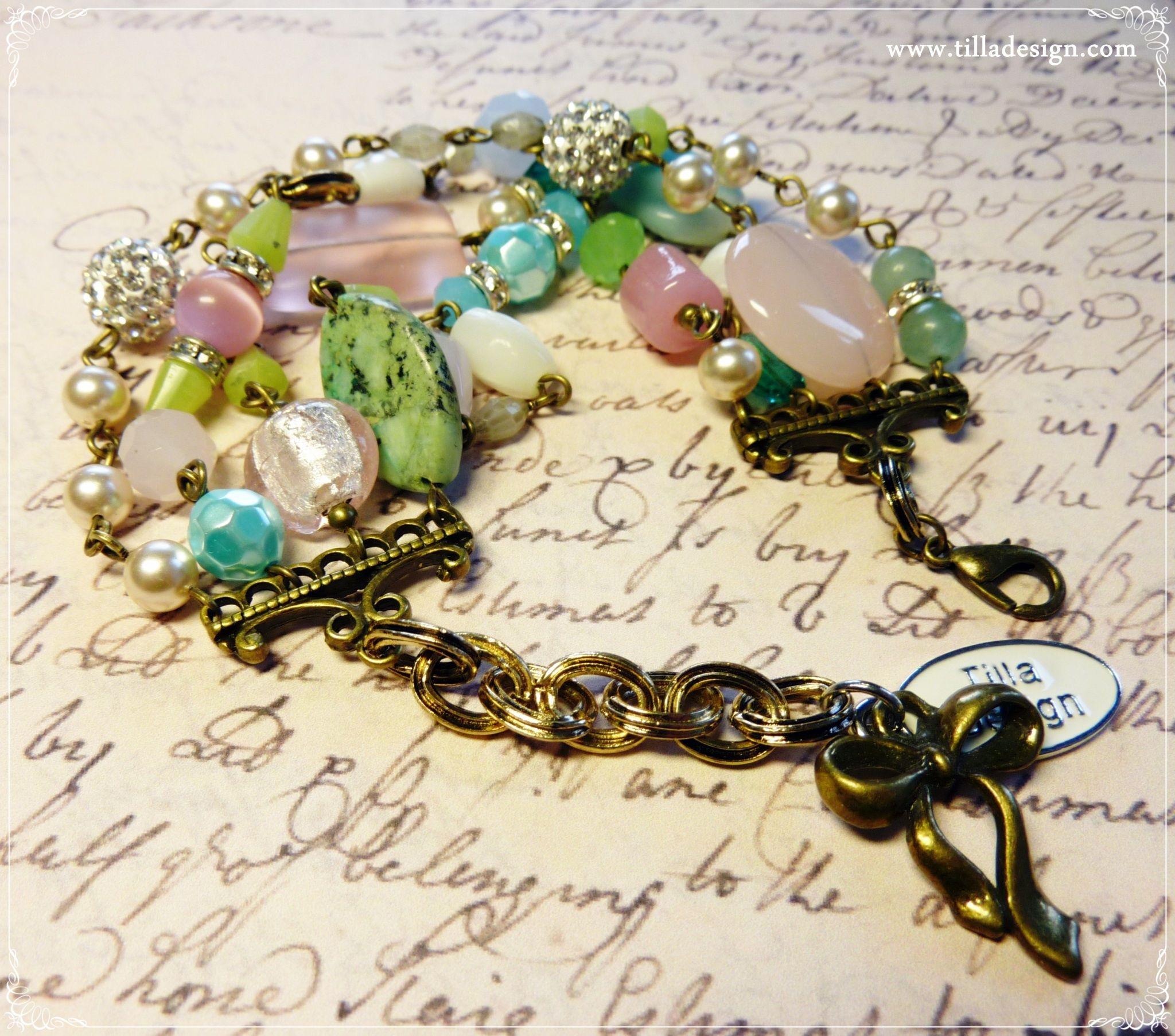 Lovely sorbet pastelle bracelet made by www.tilladesign.com