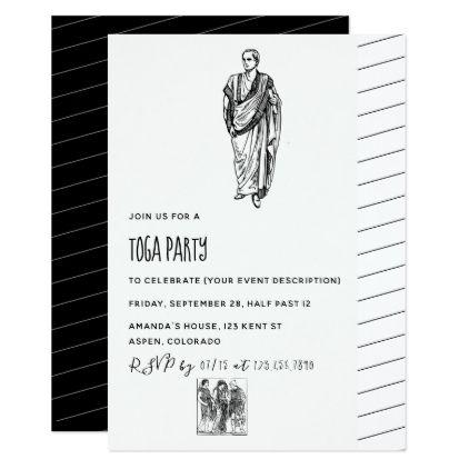 beautiful toga party invitation for 63 free toga party invitation templates