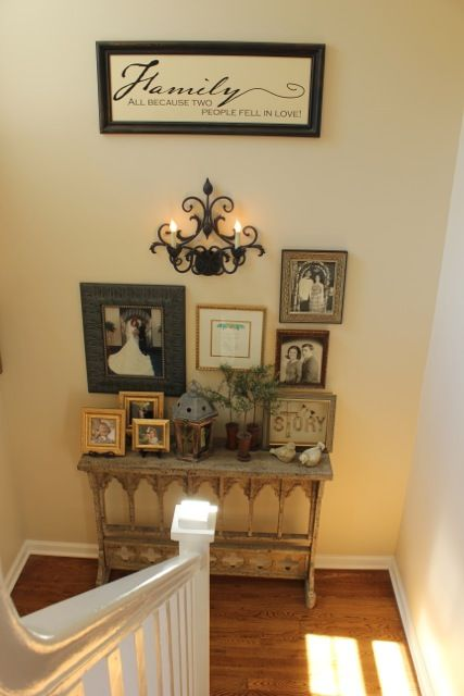 My Foyer For The Home Stair Landing Decor Foyer