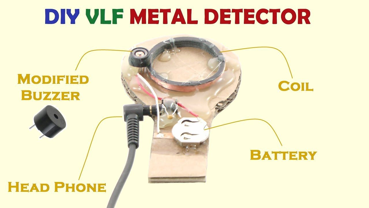 Modify A Buzzer As An Oscillator To Make Simple Vlf Ib Metal This Bfo Detector Requires At Home Handmade Crafts Howto Diy