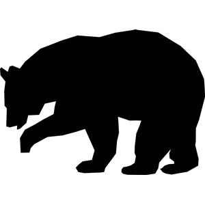 Simple Black Bear Clipart Cliparts Of Simple Black Bear Free Download Wmf Eps Emf Svg Png Gif Formats Bear Silhouette Silhouette Art Black Bears Art