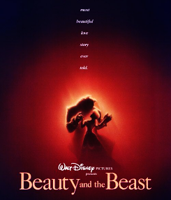 Beauty and the Beast - Movie Poster.  I have a shirt with this on it.