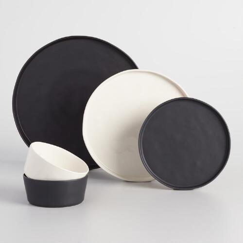 Ivory Organic Bowls Set of 6. Black DinnerDinner Plate ... & Ivory Organic Bowls Set of 6 | Black dinner Bowl set and Organic ...