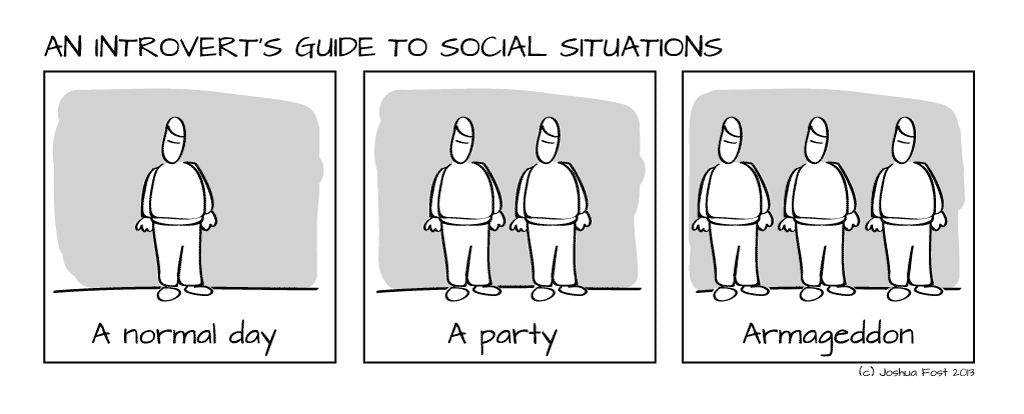 Image result for introverts at parties