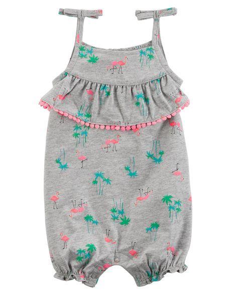 0cdc1463bac7  Carters  Flamingo Tie Shoulder Romper