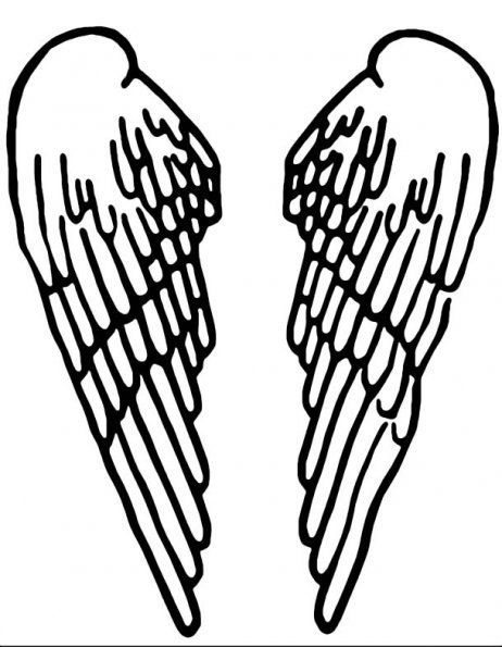 picture regarding Angel Templates Printable Free titled free of charge angel wings stencil Craft Suggestions Stencils, Wings