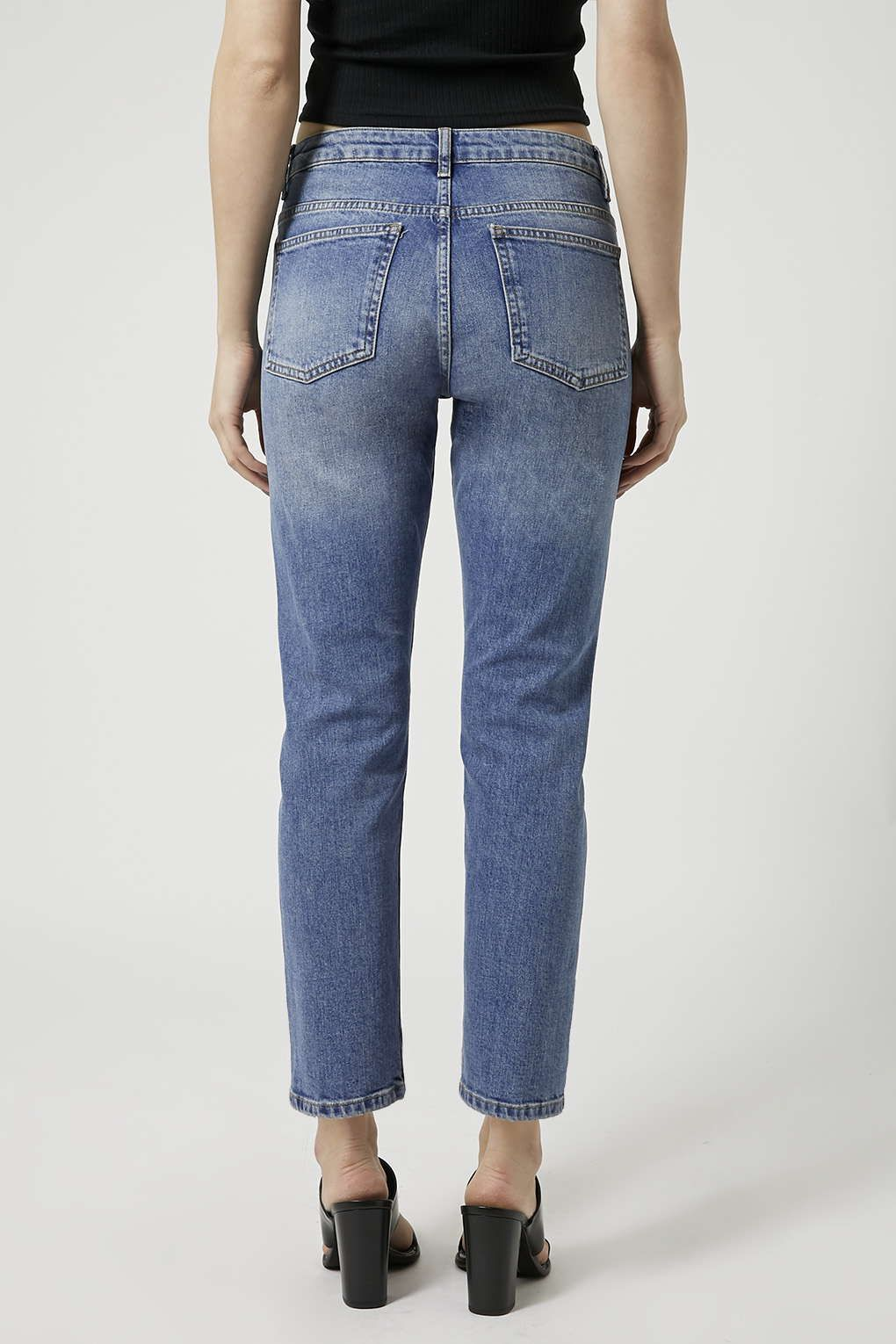 d8a1cd819774f MOTO Mid Blue Girlfriend Jeans - Jeans - Clothing - Topshop ...