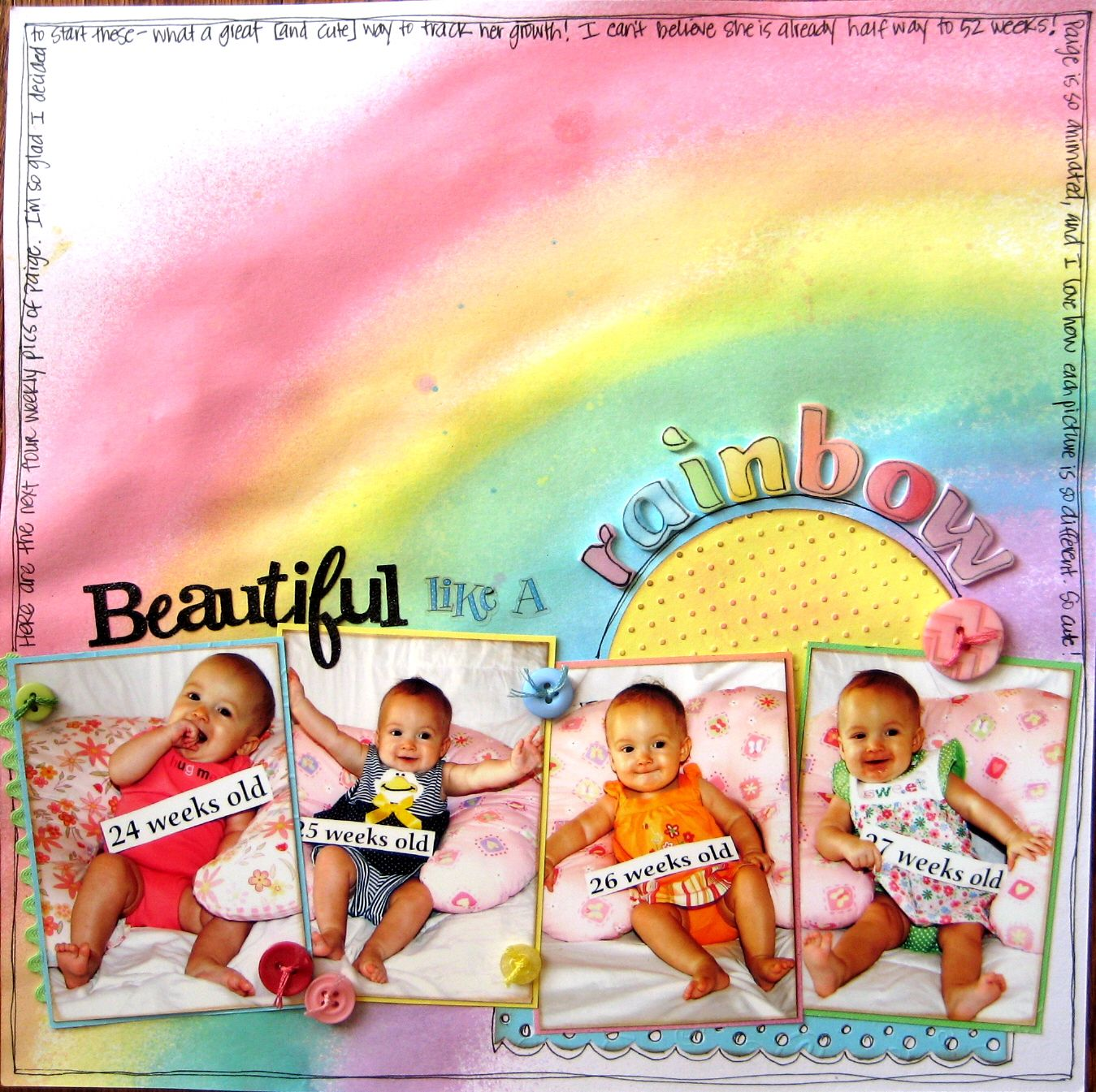 Scrapbook ideas rainbow - Beautiful Like A Rainbow Scrapbook Com
