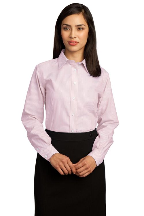 646c19fd Business Casual: Here's another variation of business casual - a button  down shirt with a skirt.