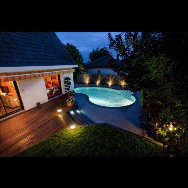 Piscine haricot Piscine Pinterest Pool house designs, Pool